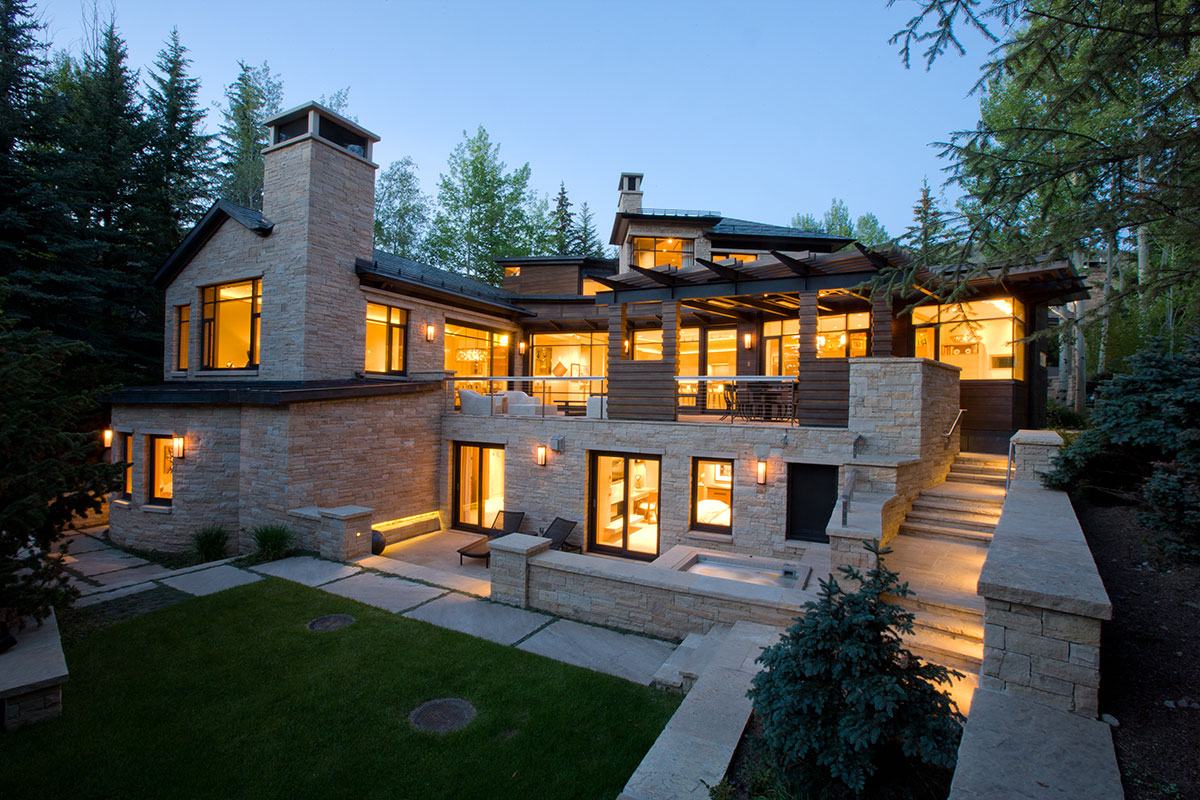 Aspen modern contemporary home r a enterprises Modern residence